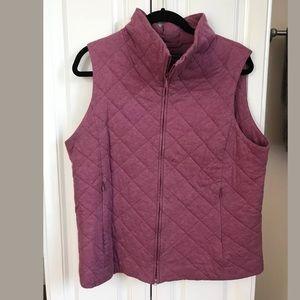 Eileen Fisher Quilted Zip Up Vest